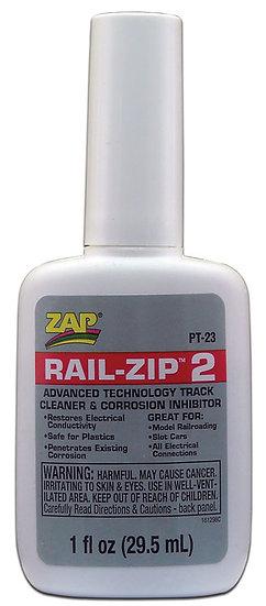 Zap PT23, Líquido limpiador de rieles 30ml.