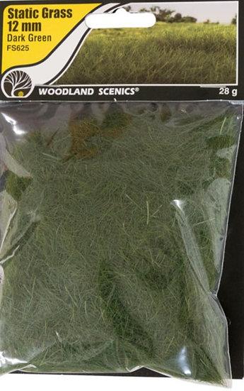 Woodland Scenics FS625, Pasto estático 12 mm, verde oscuro