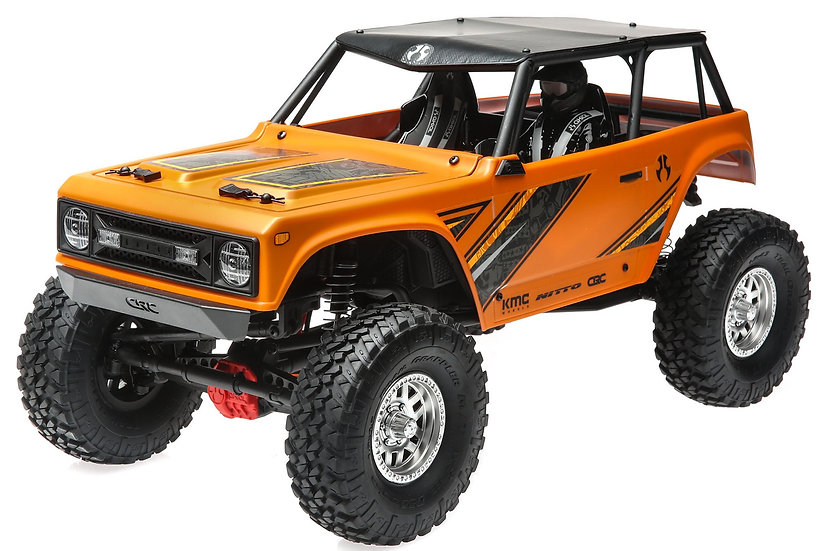 AXI90074T1, 1/10 Wraith 1.9 4WD Rock Crawler Brushed RTR, Orange