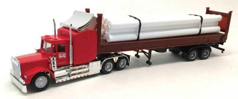 Herpa Promotex 6536, Kenworth W900 con remolque y carga