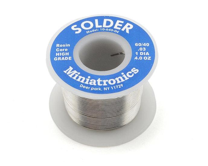 Miniatronics MNT1064004,  rollo de soldadura 60/40