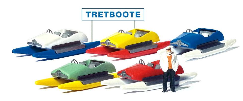 Preiser 10685, Alquiler de botes a pedales + figura