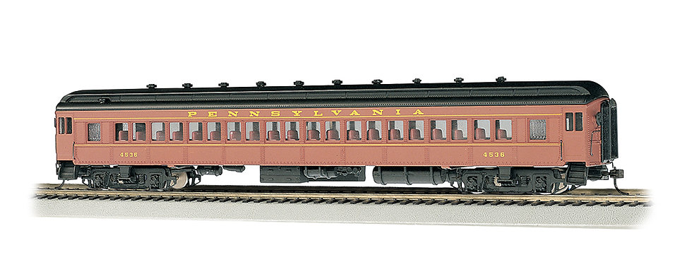 Bachmann Silver 13707, PRR POSTWAR #4536 72' HEAVYWEIGHT COACH