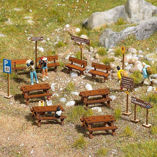 Busch 1484, Set de muebles de madera Outdoor