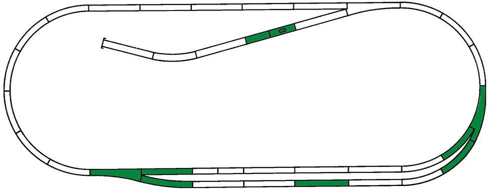 Roco 42011, Set de vías C  ROCOLINE con balasto de goma