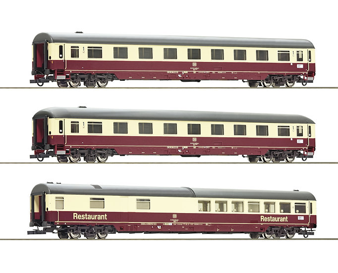 "Roco 74096, Set de 3 coches TEE/IC ""Christoforus-Express"", DB, época IV"