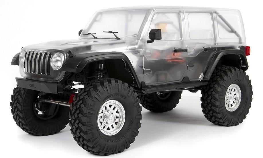 AXI03007, 1/10 SCX10 III Jeep JLU Wrangler with Portals 4WD Kit