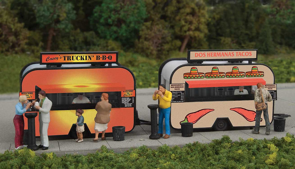 """Walthers 2904, Pack 2 food truck """"BBQ"""" y """"TACOS"""""""