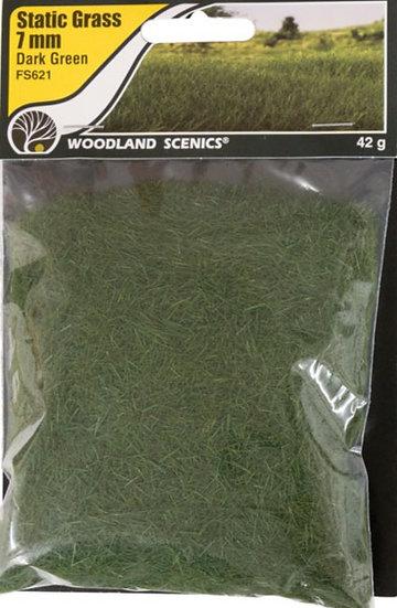 Woodland Scenics FS621, Pasto estático 7 mm, verde oscuro