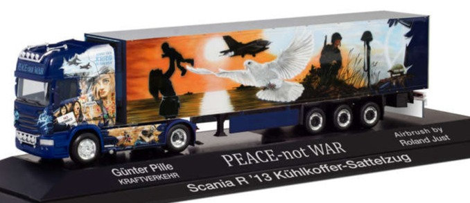 "Herpa 122016, Scannia R TL ""PILLE / PEACE NOT WAR"""