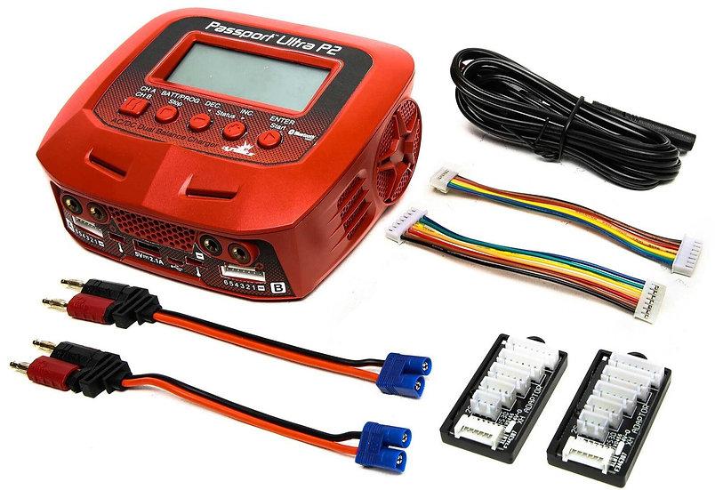 Dynamite DYNC3016, Cargador Passport P2 100W AC/DC 2-Port con Bluetooth