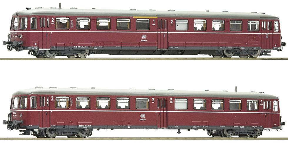 Fleischmann 740100, Automotor motriz acumulador serie 515 con coche, DB, ép IV
