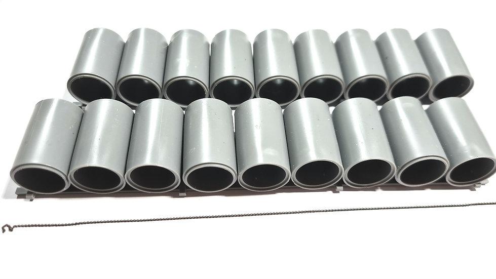 Tichy Train Group 3056, 2 x Sets de carga de tubos para carros planos (HO)