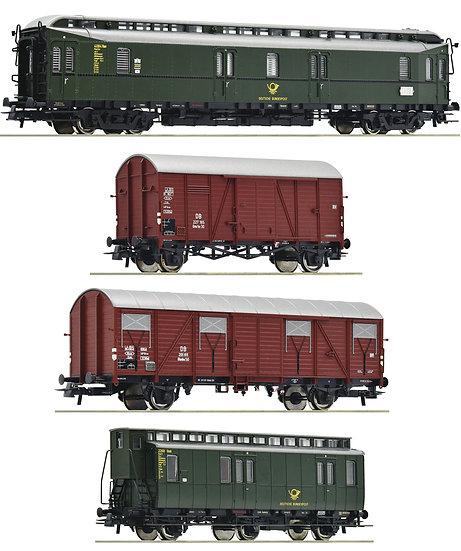 "Roco 76036. Set de 4 piezas: ""Tren postal"", DB, época III"