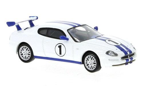Brekina  Rik38808 Maserati 3200 GT Trofeo, weiss/blau, No.1, 2002