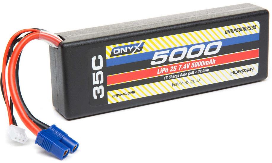 ONXP50002S35, 7,4V 5000mAh 2S 35C Hardcase LiPo : EC3