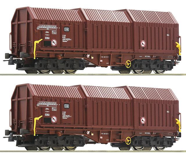 Roco 76041, Pack de 2 carros de carga telescópicos, DB, época IV-V
