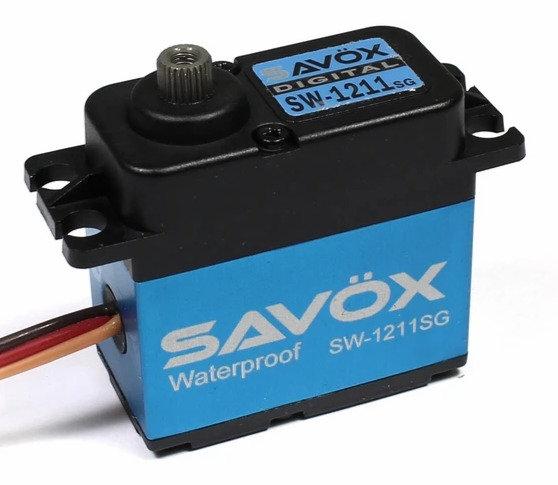 Servo SAVOX SW1211SG, Waterproof High Voltage Digital Servo, 0,08 seg/25kg @7.4V