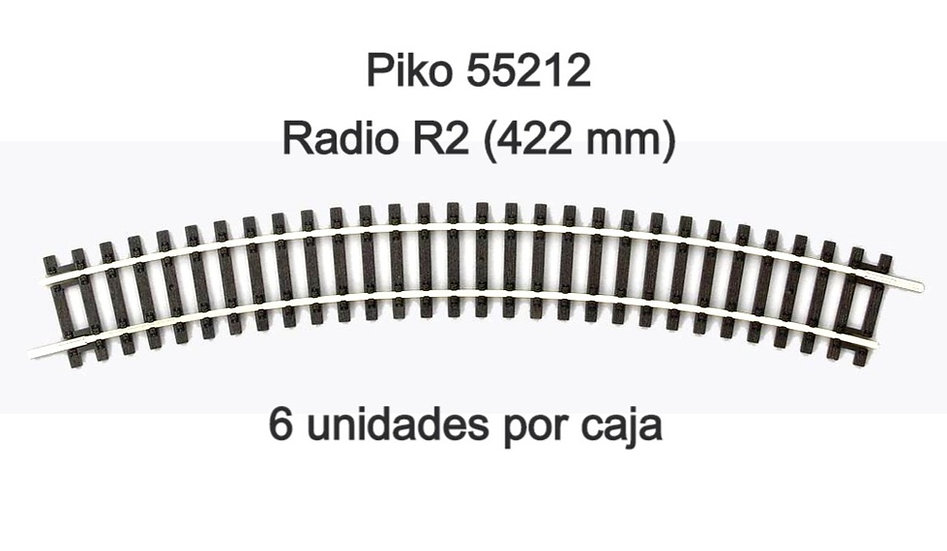 Piko 55212, Curva R2. Caja de 6 unidades.