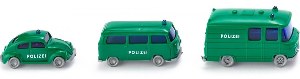 Wiking 093500, Pack de vehículos de policía