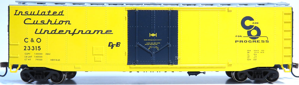 Athearn RND79104, 50' Plug Door Smooth Side Box, C&O #23315