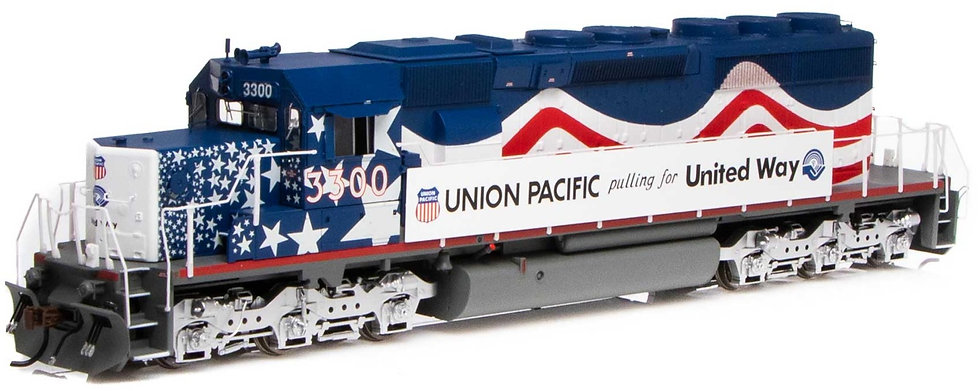 ATHEARN 71529. Loc diésel SD40-2, UP/United Way  #3300