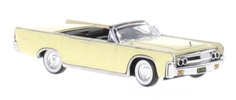 Brekina Rik38322, Lincoln Continental Convertible, amarillo claro, 1963