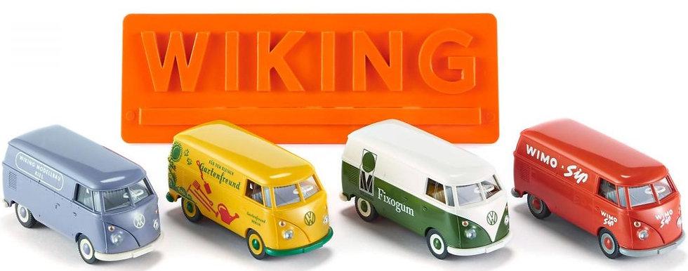 Wiking 217001, Gift box - VW T1 model set x 4