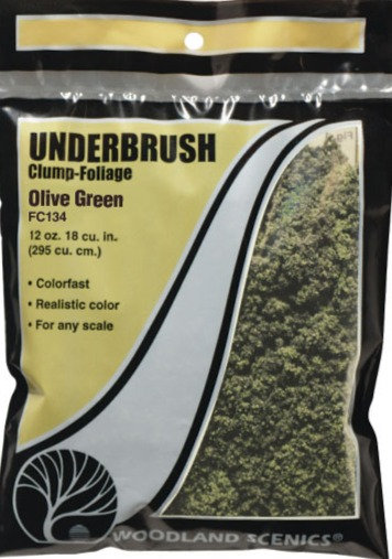 Woodland Scenics FC134, Underbrush (maleza) verde oliva