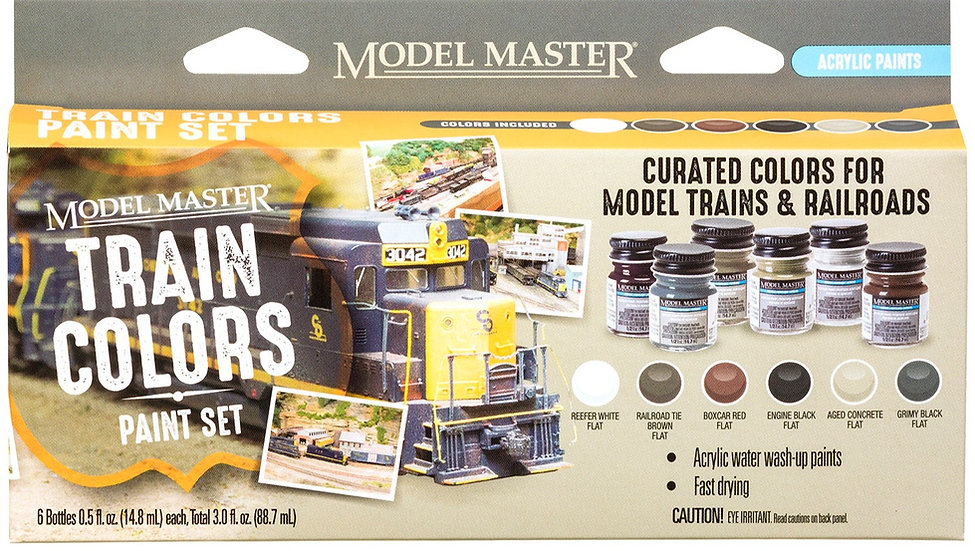 Testors TES342300, Set de 6 pinturas acrílicas  Model Master