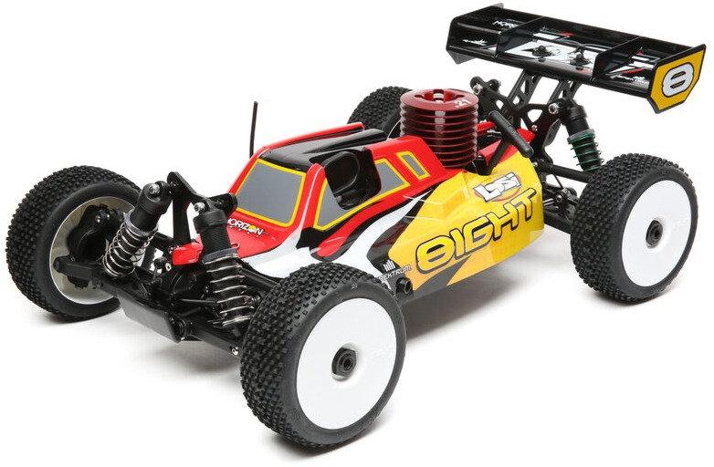 LOSI LOS04010, 1/8 8IGHT 4WD Buggy Nitro RTR, rojo amarillo