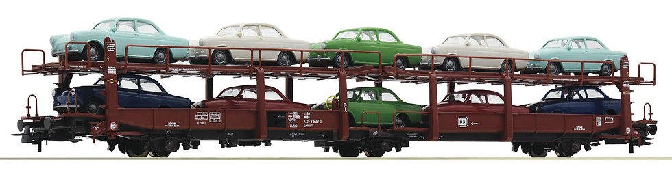 Roco 76458. Vagón porta-coches, DB, época IV