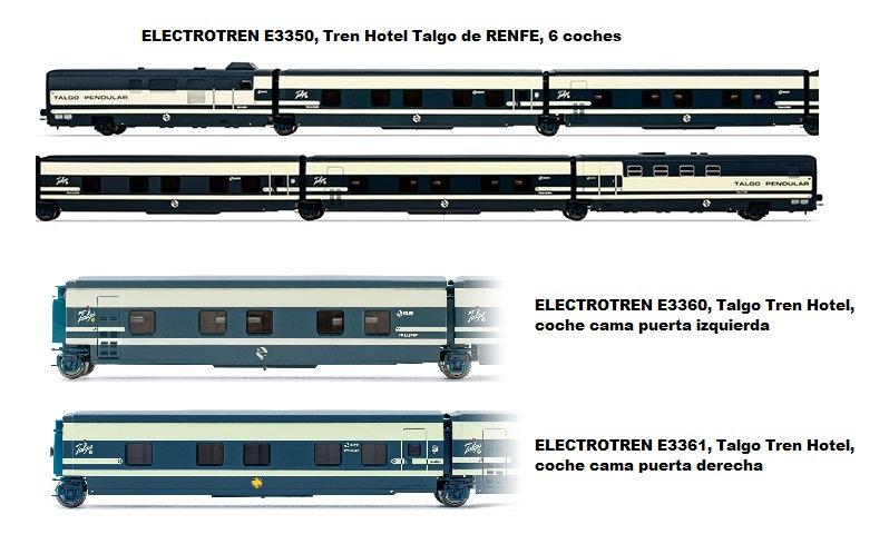 Pack Tren Hotel Talgo RENFE, época IV  (8 coches)