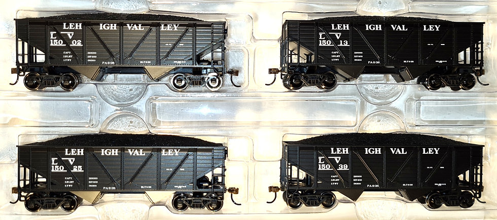 Athearn RND70923, Carro tipo Hopper doble descarga Lehigh Valley