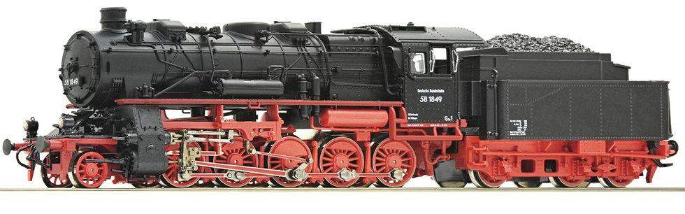 Roco 72922. Loc. a vapor BR 58 Deutsche Bundesbahn, época III