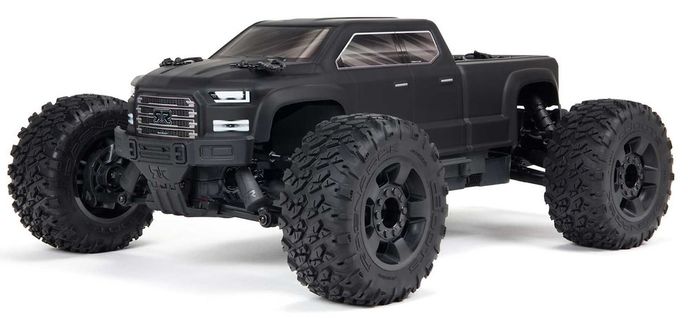 ARA4312V3, 1/10 BIG ROCK 4X4 V3 3S BLX Brushless Monster Truck RTR, negro