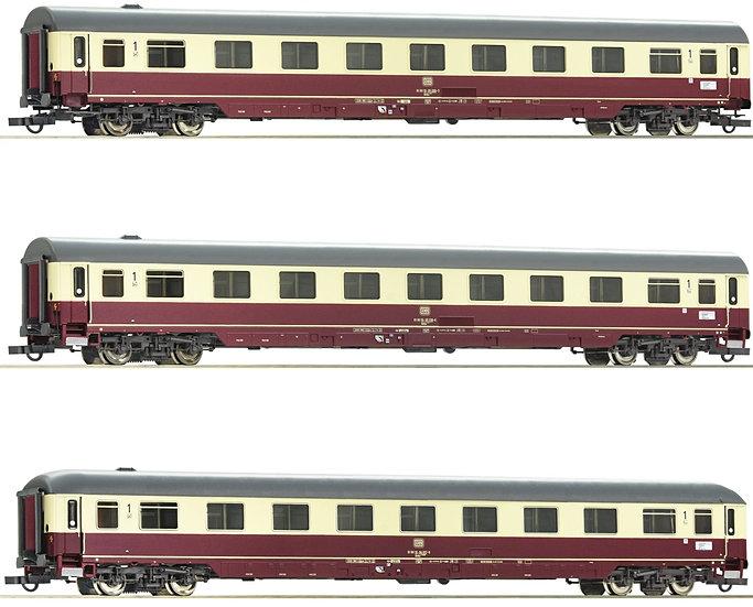 """Roco 74095, Set de 3 coches TEE/IC """"Christoforus-Express"""", DB, época IV"""