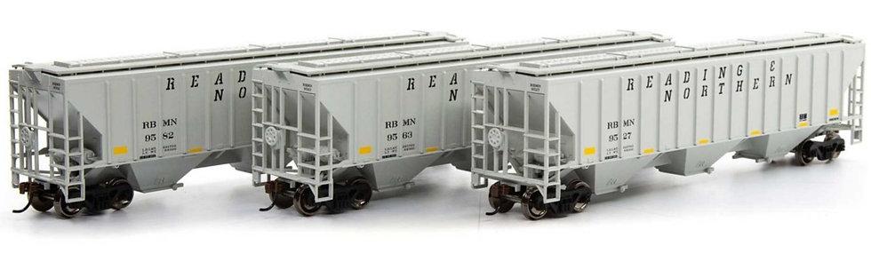 Athearn 18774, HO SET PS 4740 Covered Hopper RBM&N (3 unidades)