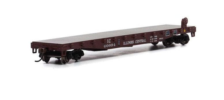 Athearn RND15748, Carro plano 50' con estacas Illinois Central #60994