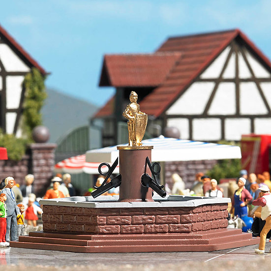 "Busch 7728, Mini world ""Marketplace Fountain"""
