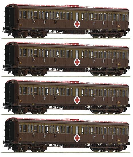 "Roco 74093, set ""Hospital train"", FS, época III"