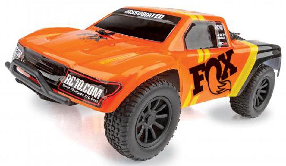 ASC20157, 1/28 SC28 2WD SCT Brushed RTR, Fox Edition: Orange