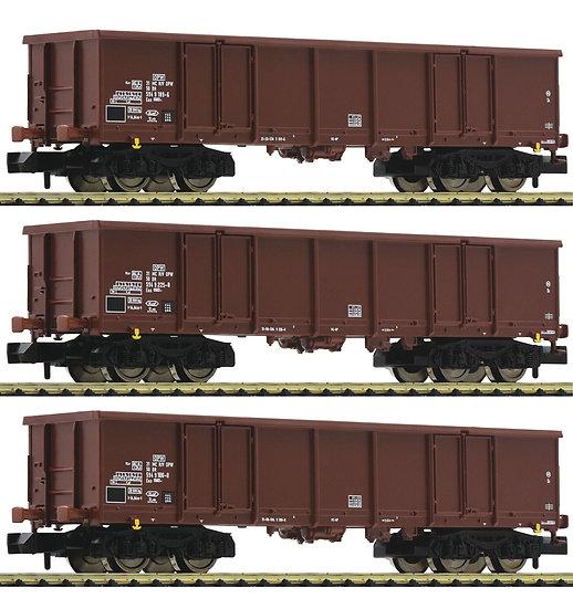 Fleischmann 828347, Set de 3 vagones de mercancías tipo Eas, DR