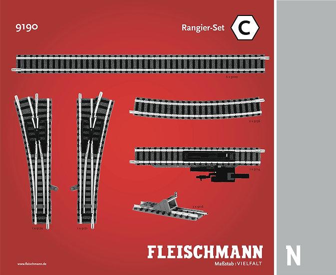 "Fleischmann 9190, Set vías Profi ""C"""