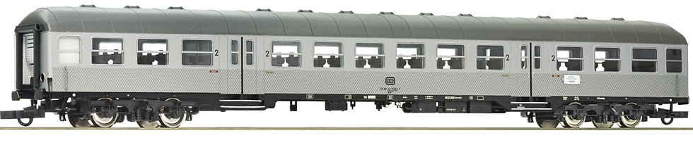 """Roco 74588, Coche de cercanías de 2a clase """"Silberling"""", DB, época I"""