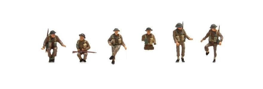 Artitec 387.135, Artillería UK (6 figuras) con armas pintadas.