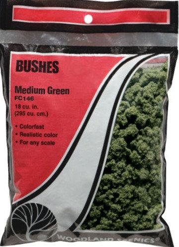 Woodland Scenics FC146, Bushes (arbustos) verde medio