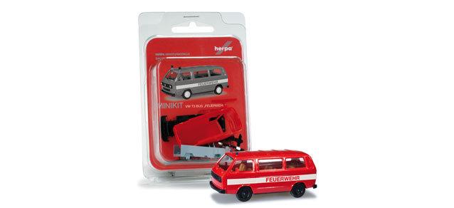 "Herpa 12591, MiniKit: VW T3 Bus ""departamento de bomberos"""