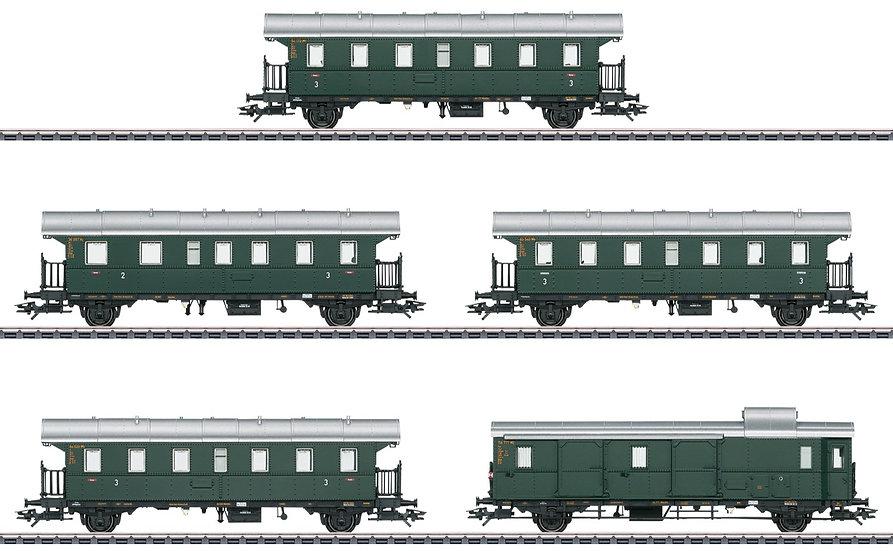 "MÄRKLIN 43141. Set de 5 coches tipo ""Donnerbüchsen"",  DB, época III"