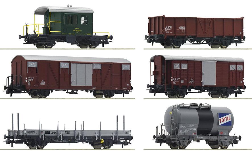 """Roco 76051, Juego de 6 piezas: Tren de mercancías """"Gotthardbahn"""", SBB"""